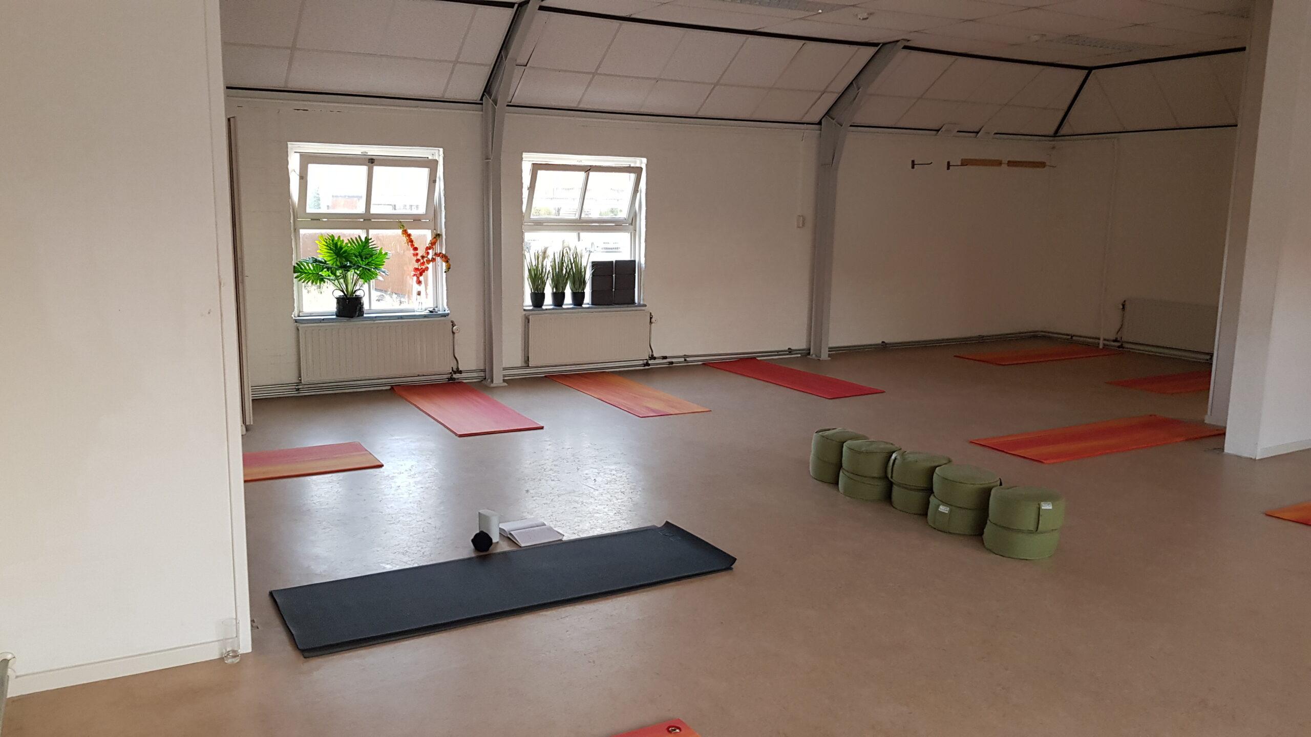 Yoga ruimte op de boerderij. Kleinschalig, met veel persoonlijke aandacht.